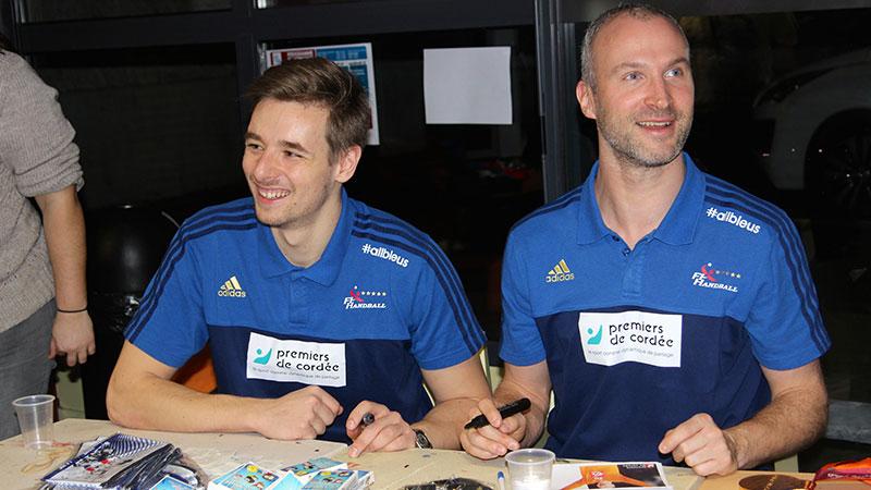 Handball avec Thierry Omeyer à la Clinique Rist