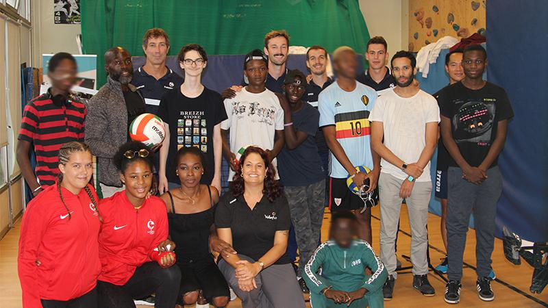 Du volley-ball à l'hôpital avec l'Equipe de France